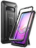 SupCase Hülle für Samsung Galaxy S10 Handyhülle Outdoor Case Bumper Schutzhülle Robust Cover [Unicorn Beetle Pro] OHNE Bildschirmschutz mit Gürtelclip & Ständer 2019 Ausgabe (Schwarz)
