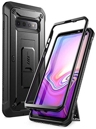 SupCase Hülle für Samsung Galaxy S10 Handyhülle Outdoor Case Bumper Schutzhülle Robust Cover [Unicorn Beetle Pro] OHNE Displayschutz mit Gürtelclip und Ständer 2019 Ausgabe (Schwarz)