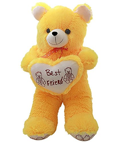 ADS Toys Beautiful Yellow Teddy Bear 70cm with Heart