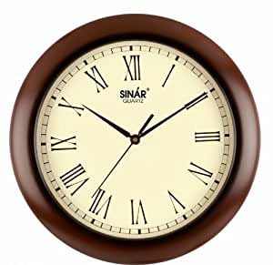TURBO Wooden Wall Clock(Size: 28 CMS Diameter)