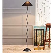Black Cotton Zig Zag Floor Lamp /Standing Lamp By New Era For Living Room /Drawing Room/Office/Bedroom/Decoration /Corner/Gift/Lobby