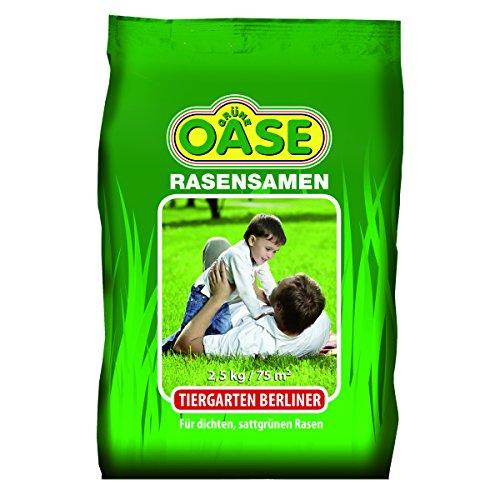 Grüne Oase Rasensamen GO-100 Tiergarten Berliner 2,5 kg, grün