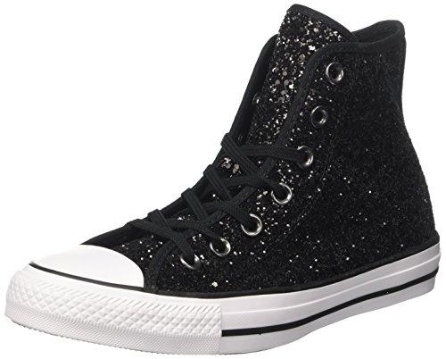 Converse Damen Chuck Taylor CTAS Hi Sneakers, Schwarz White/Black 001, 37 EU
