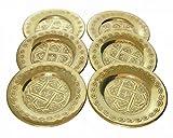 6 x Orientalische Untersetzer für Teegläser Gold
