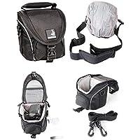 Bodyguard Foto-Tasche klein schwarz - passend für Nikon Coolpix B500 L330 L340 L840 Canon Powershot SX530 SX540 SX740 HS