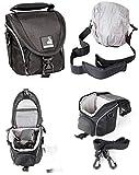 Bodyguard Foto-Tasche klein schwarz - passend für Nikon Coolpix B500 L330 L340 L840 Canon Powershot SX530 SX540 SX740 H