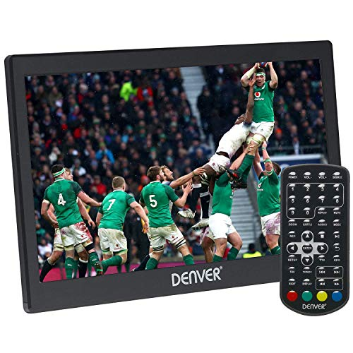 "Denver LED-1031 10"" Small Portable TV with Freeview 