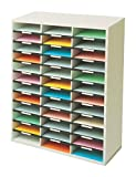 Fellowes - Mueble organizador de documentos, 36 compartimentos, color gris