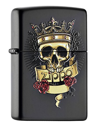 zippo-60000983mechero-skull-with-crown-label-with-logo-de-zippo-and-3red-roses
