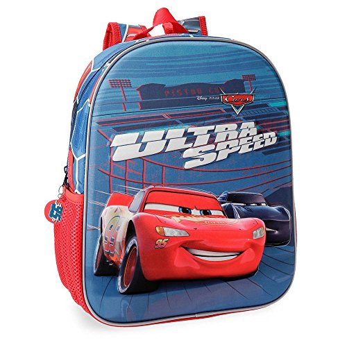 Cars Ultra Speed Preschool Backpack Front Part In 3D, 33 cm