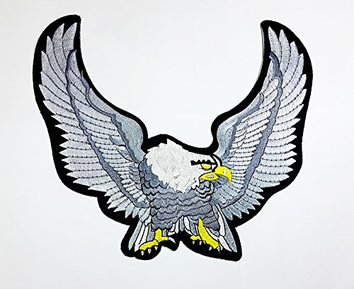 rabana XXL Gray Hawk Bird Flying Wild Animal Choppers Lady Rider Biker Motorrad Patch Sew Iron on gesticktes Badge Schild Kostüm