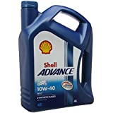Royal Dutch Shell lubricantes 550044457 Shell Advance 4T, 10 W-40, 4 litros