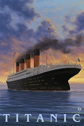 Titanic-White Star Line, Papier, multi, 9 x 12 Art Print - Office Line Kollektion