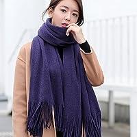CXIGUA Damen Schal Lange Student Winter Gestrickt Warmen Dual-Purpose Schal