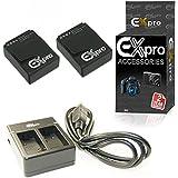 Ex-Pro Caméra GoPro AHDBT-201, AHDBT-301, ultra haute capacité 1450mAh 2an de garantie de remplacement Lithium Batterie lithium-ion pour appareil photo numérique Gopro [Voir description pour modèles]