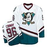 Yajun Charlie Conway #96 Mighty Ducks film ijshockey shirts Jersey NHL heren sweatshirts ademend T-shirt kleding, 3XL