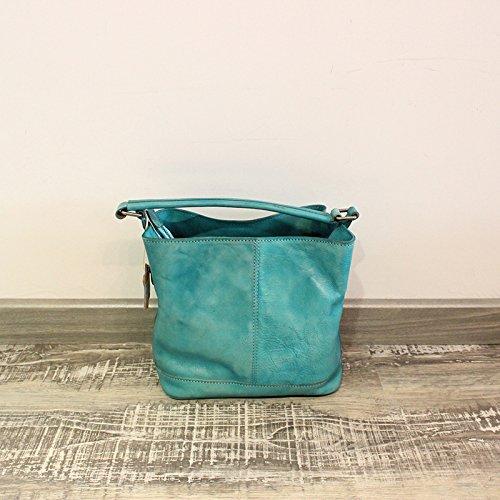 De style original part-portable sac d'épaule sac à main bandoulière loisirs en cuir Powder Blue