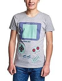 Nintendo Men's T-Shirt Game Boy Gray Cotton