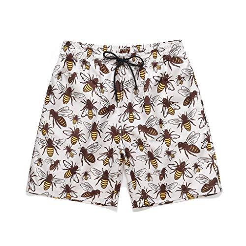 Pantalones de Playa con Estampado Hawaiano para Hombre bañador de Surf Moda pantalón Corto Shorts...