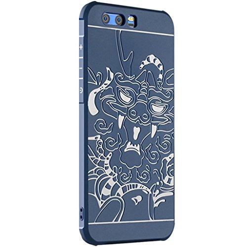 Huawei Honor 9 Funda-Tianqin TPU Suave Cubierta del Huawei Honor 9 [Choque][Thin][Impedir la Caída][Prevent Rascarse][Patrón Xianglong] Adecuado Para Huawei Honor 9 Caso - Azul