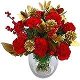 Clare Florist Christmas Cracker Bouquet of Fresh Christmas Flowers
