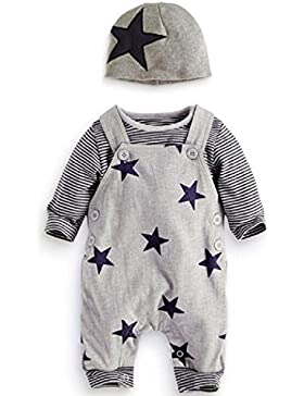 Prämie Reine Baumwolle Set Kleidung, Neugeborenes Baby Strampler Star Kleidung Sets, Hosen Tops Hut Cute Jumpsuit...