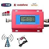 system eng Mini-Signalverstärker-/Repeater-Set, GSM-Mobilfunknetz, Doppelantenne, LCD-Display