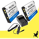 Two Halcyon 1200 MAH Lithium Ion Replacement Battery And Charger Kit For Nikon Coolpix S3500 20.1 MP Digital Camera And Nikon EN-EL19