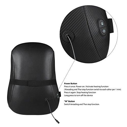 Naipo Rückenmassagegerät mit S-Design Thai-Massage zwölf Massageköpfe Akupressur Shiatsu vollständige Wärmefunktion für Haus Büro Auto -