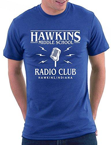 Stranger Things Radio Club T-shirt Royal