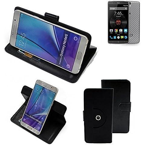 360 ° della copertura della cassa Smartphone Elephone P8000 4G, nero | Cassa del raccoglitore stand funzione Bookstyle. Migliore prezzo, migliore prestazione - K-S-Trade