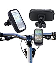 """COOSA Bolsa Funda Móvil de Bicicleta Soporte móvil bicicleta o motocicleta con funda impermeable universal caja de montaje de la bici sostenedor de agua, arena, suciedad resistente para Dispositivos teléfonos móviles hasta 5,5"""" iPhone 6 6S 5 5S, Galaxy S7 S6 S5, HTC One X, LG, Sony, Nexus 5, Motorol, Blackberry, GPS y cualquier otro teléfono móvil que tenga hasta 5.5"""" de pantalla. (negro, XL)"""