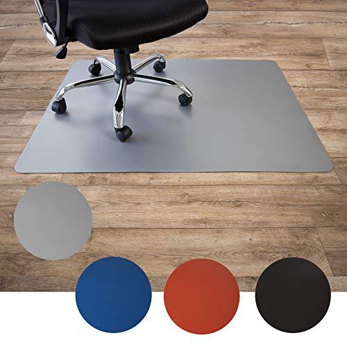 Floordirekt Bodenschutzmatte für Hartböden   aus Polypropylen  Buerostuhlunterlage   Stuhlunterlage   Schutzmatte   Hartboden   BUNT   3 Größen (120 x 150 cm, Grau)