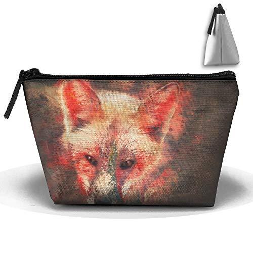 Sac de Maquillage Sac trapézoïdal Sac de Maquillage Fire Fox Sac de Voyage de Voyage Sac de Voyage Trousse de Toilette