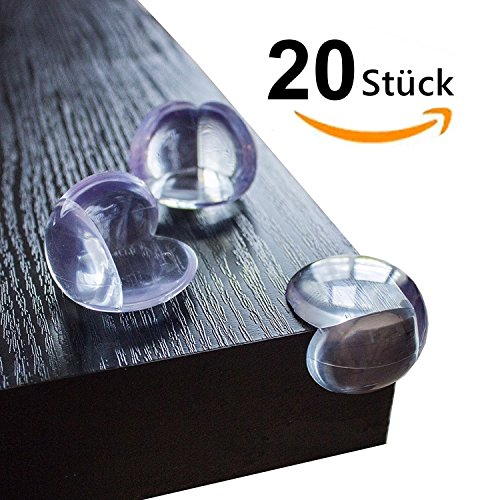 Eckenschutz BestTrendy Kantenschutz 20st Baby Eckenschützer Klebeband transparent aus Kunststoff für Tisch- und Möbel-Ecken - Stoßschutz für Baby's und Kinder Test