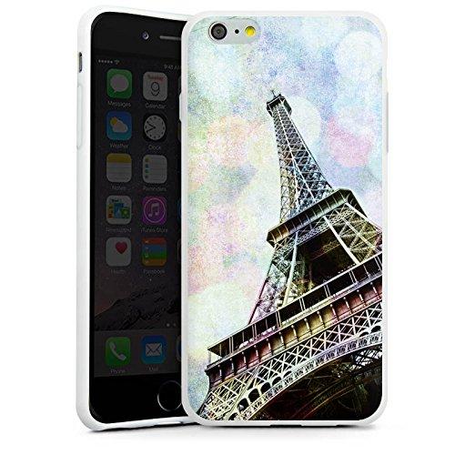 Apple iPhone X Silikon Hülle Case Schutzhülle Eiffelturm Paris Frankfreich Silikon Case weiß