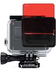 SANDMARC Aqua Filter: Filtro de buceo para GoPro Hero 5 - Set de filtros rojo, magenta y amarillo - 5 Pack - Accesorios de buceo y snorkel (HERO5 Super Suit)
