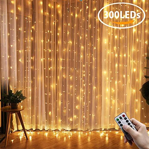 ... IP65 Wasserfest, 8 Leuchtmodi LED Lichterketten Mit Fernbedienung Für  Weihnachten Party Hochzeit Garten Schlafzimmer Innen Und Außen Deko  (Warmweiß)
