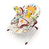 Bright Starts, Babywippe, Playful Pinwheels mit Vibrationen, abnehmbarem Spielbogen und interaktiven Spielzeugen