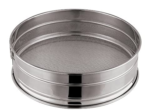 Paderno World Cuisine 13-3/8-Inch Stainless-Steel Coarse Mesh Flour Sieve, 12 Perforations by Paderno World Cuisine