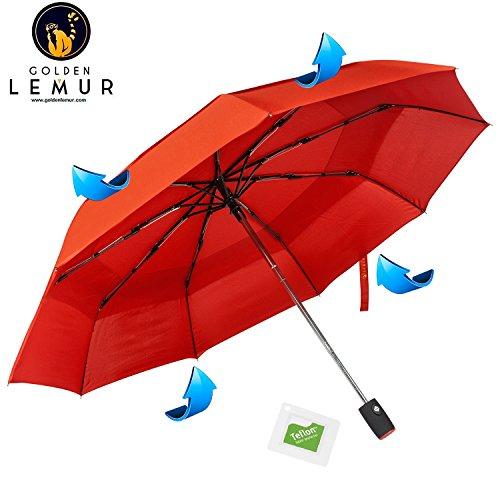 Paraguas Plegables Automático Antiviento / Golden Lemur