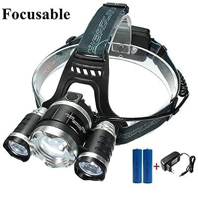 LED Stirnlampe,SGODDE 3x CREE T6 LED LED Kopflampe- 4 Helligkeiten zu wahlen wasserdicht Scheinwerfer Headlamp Headlight für Outdoor Joggen Biken Laufen Camping Bauarbeiten