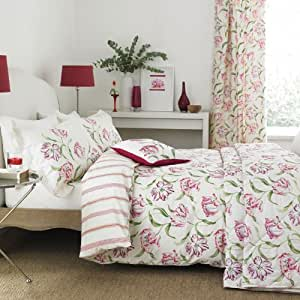 sanderson dancing tulpen doppel king size decke rot k che haushalt. Black Bedroom Furniture Sets. Home Design Ideas