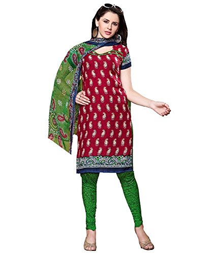 Vineberi Beautiful And Graceful Unstitched Printed Crepe Maroon Salwar Suit Dress Material With Dupatta  available at amazon for Rs.399