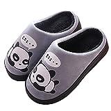 Gaatpot Donne Uomo Warm Cotone Pantofole Carine Panda Pantofole Ragazzi Ragazze Interni Antiscivolo Pantofole Scarpe di Cotone Slipper Grigio 41/42 EU = 42/43 CN