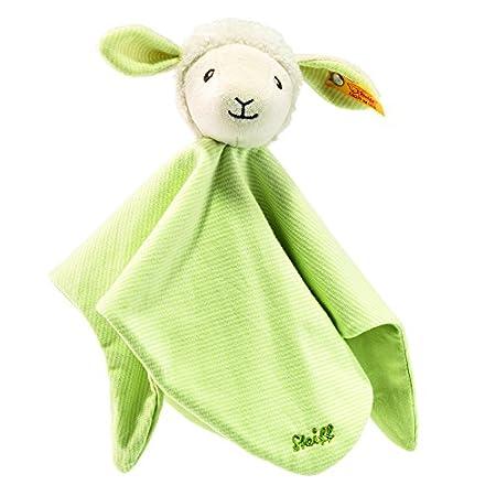 Steiff Lenny Lamm Schmusetuch – 26 cm – Kuscheltier für Babys – weich & waschbar – grün (237867)