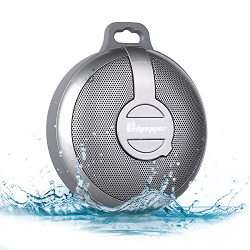 redpepper  Bluetooth 3.0 Portable Speaker, IPX5 Waterproof Stereo Speaker, in Car Mini Subwoofer for Shower and Outdoor Activities, with Exceptional Resistance to the Splash, Dust, Dirt and Shock from