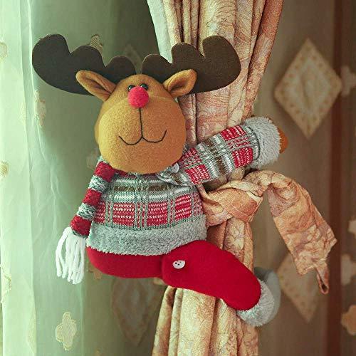 Ericcay Hukz 1Pc Neue Cartoon Puppe Vorhang Einfacher Stil Schnalle Fenster Dekoration Home Dekore (A) Fensterfolie Landhaus Vintage Jugendstil Ornament (Color : B, Size : Size)
