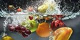 Glasvision | Küchenrückwand aus Glas | Memoboard | Herdabdeckplatte (80 x 40 cm, Fruit Splash)
