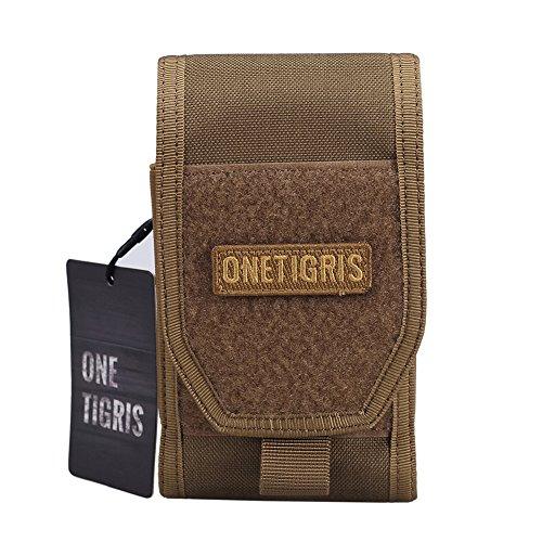 OneTigris Molle Taktische Handytasche Schutztasche für iPhone6/iPhone 6 plus/iPhone 6s/iPhone 6s plus, Klettverschluss (Braun)